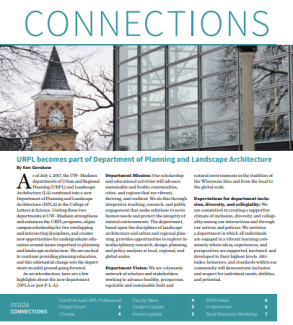First page of Winter 2017 issue of Connections