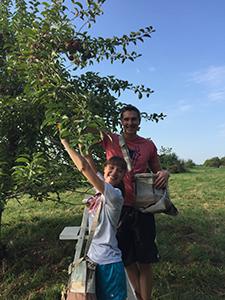 Members of WSPA apple picking