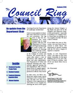 Snapshot of the front page of the 2016 newsletter